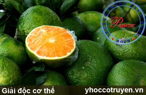 Giải độc cơ thể bằng quả cam