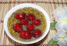 chè đậu xanh táo đỏ