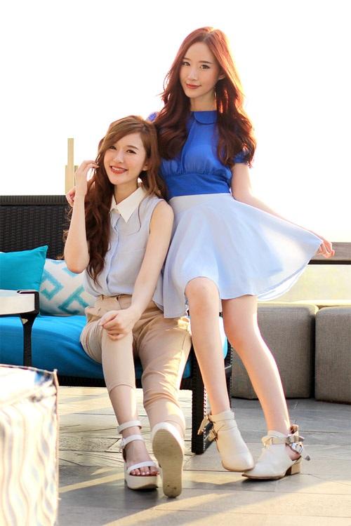 Cặp chị em sinh đẹp cùng giờ nước Hàn