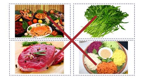 Những thực phẩm cần kiêng sau nâng ngực