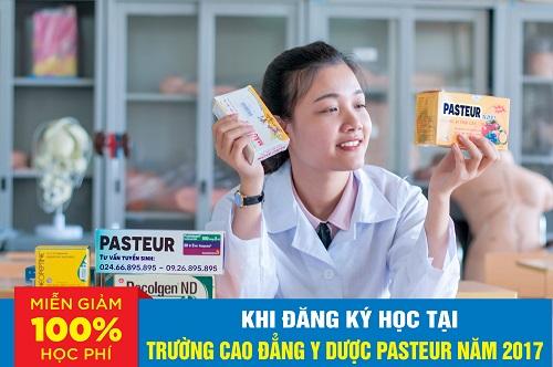 Miễn giảm học phí 100% khi học tại trường Cao đẳng Y Dược Pasteur