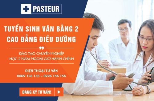 Trường Cao đẳng Y Dược Pasteur thông báo tuyển sinh Văn bằng 2 Cao đẳng Điều dưỡng